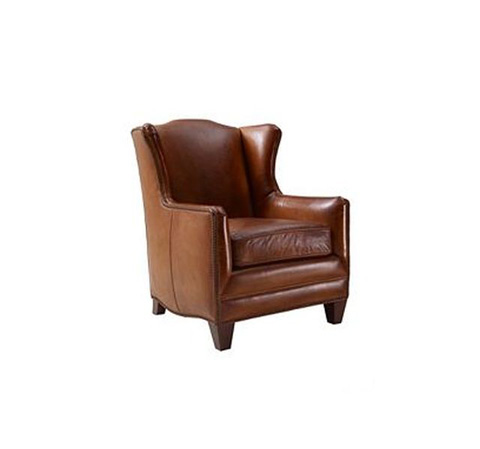 Henredon - Leather Wing Chair - IL7737