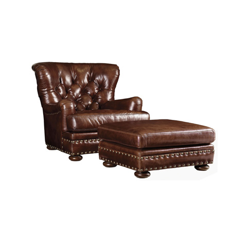 Henredon - Tufted Back Leather Chair - IL7803