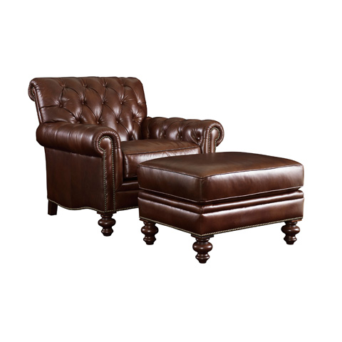 Henredon - Tufted Back Leather Chair - IL8827