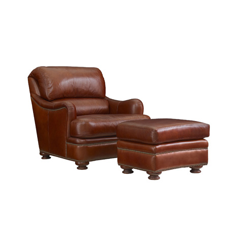 Image of Leather Bustle Back Chair