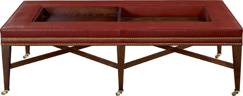 Image of Bexley Cocktail Ottoman with Tray