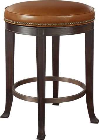 Image of Newbury Swivel Backless Counter Stool