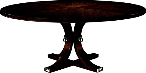 Hickory Chair - Artisan Mahogany Round Dining Table - 141-11/142-11