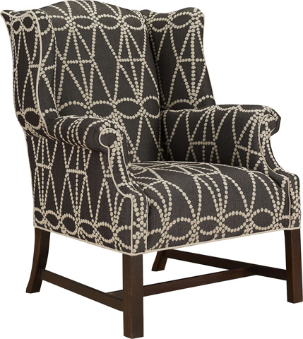 Hickory Chair - Chippendale Wing Chair - 1857-55