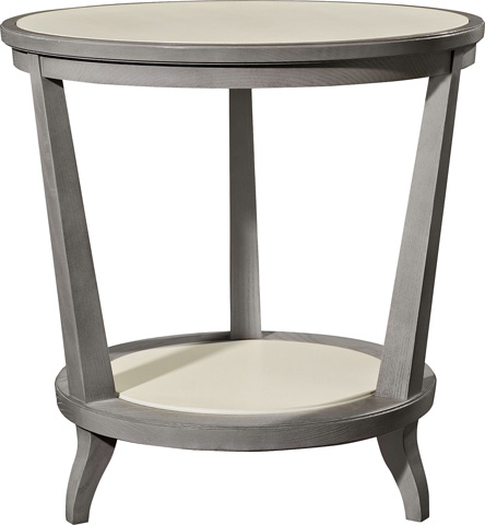 Hickory Chair - Rye Round Side Table in Ash - 186-10
