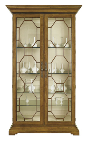 Hickory Chair - Evan Display Cabinet with Clear Glass Door Panels - 2138-11