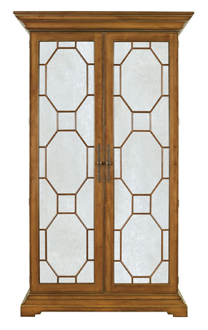 Hickory Chair - Evan Display Cabinet w/Antique Mirror Door Panels - 2138-12