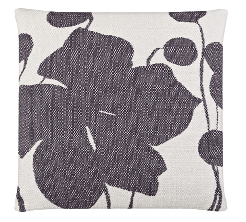 Image of Flower and Pod Plum Patch Throw Pillow