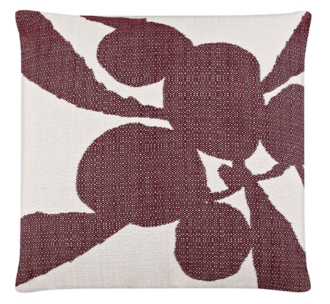 Image of Tropical Plant Plum Throw Pillow