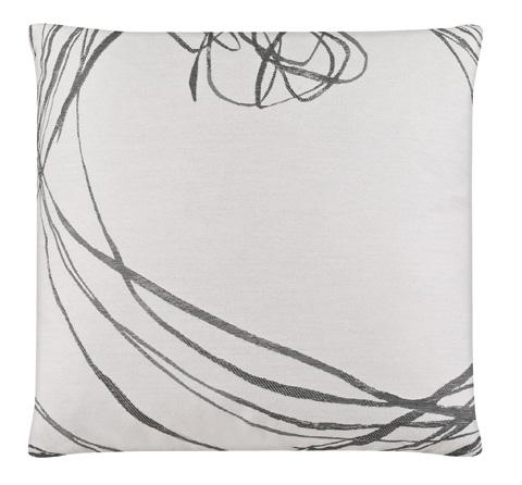 Image of Strawberry Vine Fog Throw Pillow