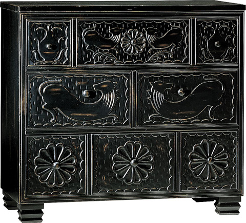 Image of Carved Black Chest