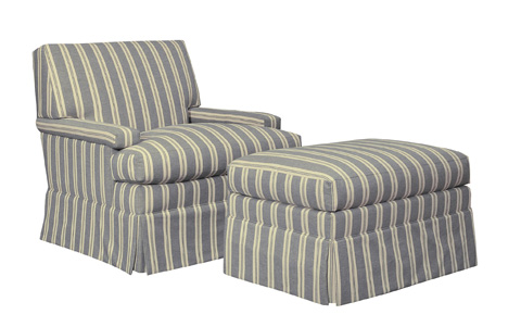 Hickory Chair - MacDonald Skirted Lounge Chair - 5417-21