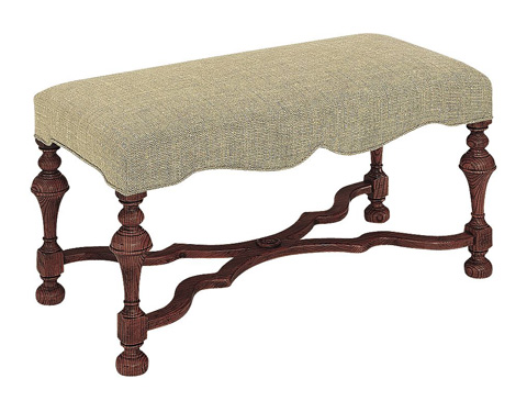 Hickory Chair - Turned Leg Bench - 6352-88