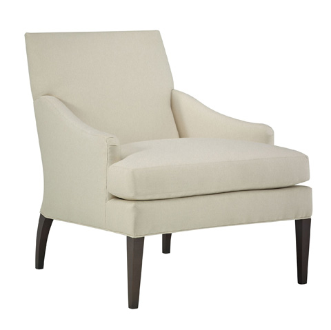 Image of Maud Lounge Chair with Tapered Legs