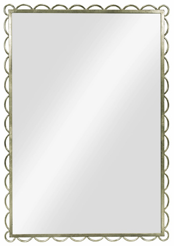 Image of Silver Leaf Scallop Mirror