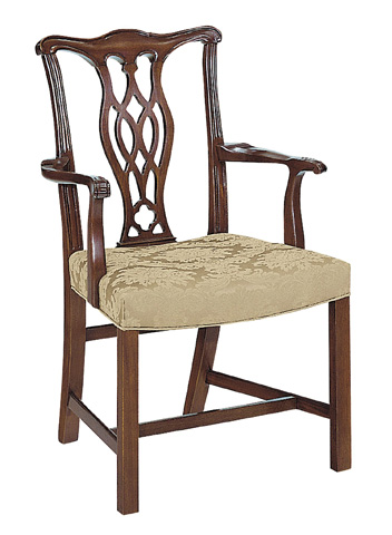Hickory Chair - Carolina Chippendale Arm Chair - 856-01