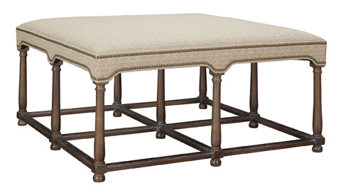 Hickory Chair - Marit Cocktail Ottoman with Upholstered Top - 9500-29