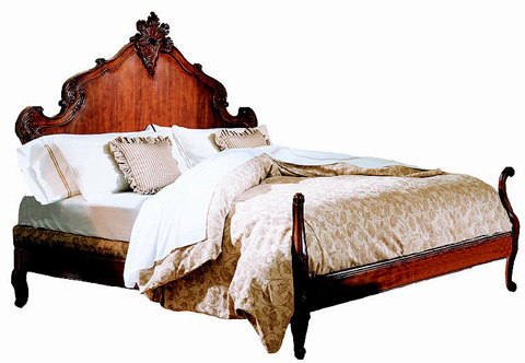 Hickory Chair - King Hand Carved Bed - 9621-00