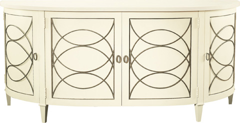 Hickory Chair - Duchamp Demilune Sideboard With Wood Top - 9845-70/9845-71
