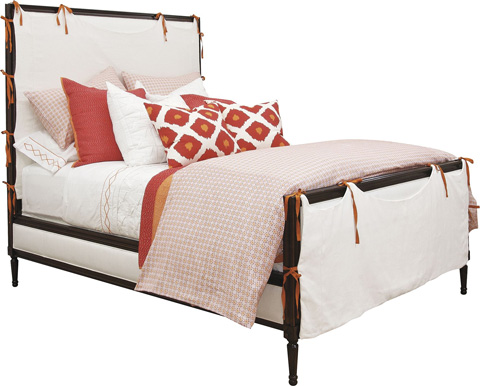 Hickory Chair - Candler Queen Bed with Slipcover - 1554-18