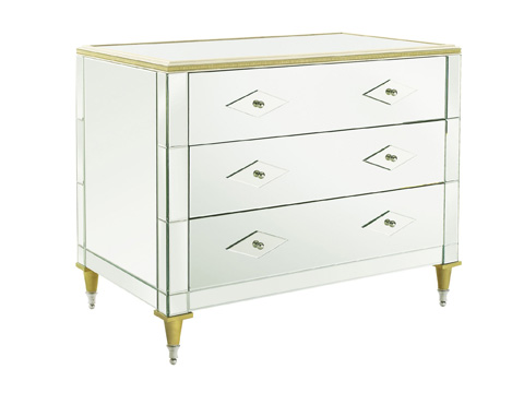 Hickory Chair - Belvedere Chest with Mirrored Top - 1566-11