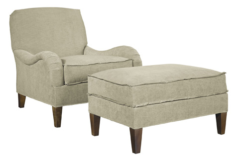 Hickory Chair - Emory Made To Measure Ottoman - 1602-53