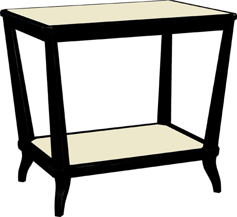Hickory Chair - Rye Rectangular Side Table - 169-71