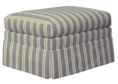 Hickory Chair - MacDonald Ottoman with Skirt - 5417-53