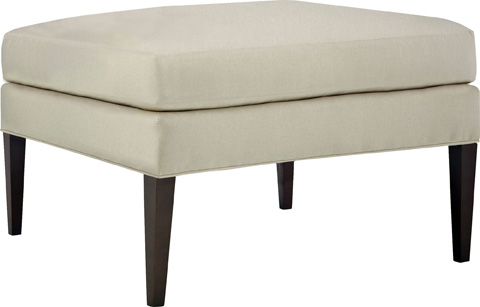 Hickory Chair - Maud Ottoman with Tapered Legs - 702-29