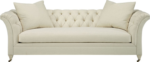 Hickory Chair - Marquette Tufted Exposed Leg Sofa - 705-89