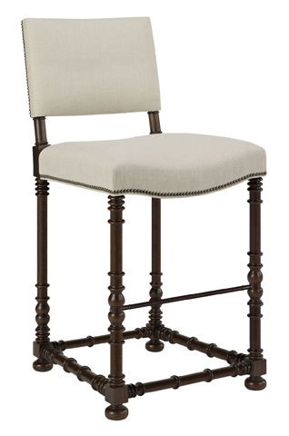Hickory Chair - Blackstone Barstool in Walnut - 709-04