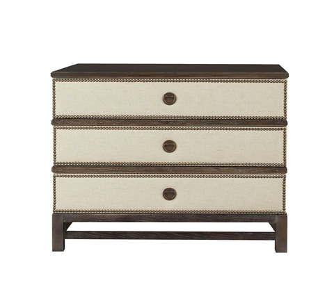 Hickory Chair - Remy Three Drawer Upholstered Chest - 9573-10