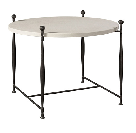 Hickory Chair - Ionia Side Table with Round Stone Top - 785-10/785-80