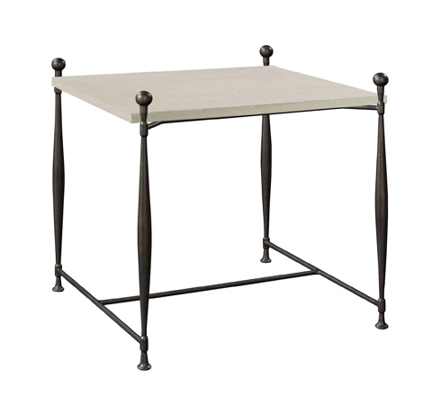 Hickory Chair - Ionia Side Table with Square Stone Top - 785-10/786-80
