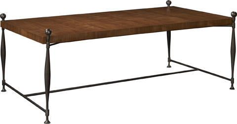 Hickory Chair - Ionia Coffee Table with Wood Top - 787-10/787-11