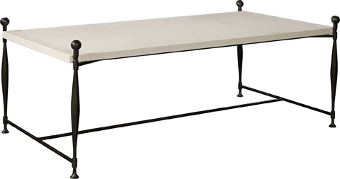 Hickory Chair - Ionia Coffee Table with Stone Top - 787-10/787-80
