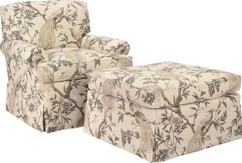 Hickory Chair - Silhouettes Lawson Arm Chair - 4300