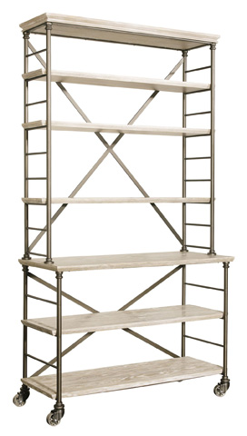 Hickory Chair - Prado Bookcase on Casters - 1595-10/1596-10
