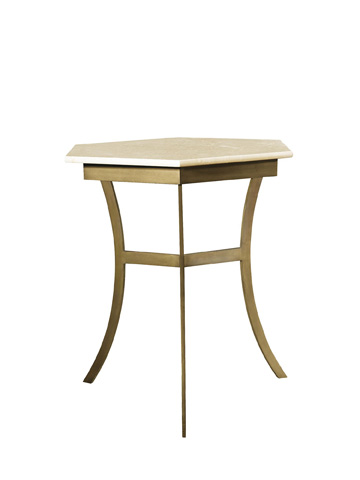 Hickory Chair - Sienna Side Table with Marble Top - 7886-10/80