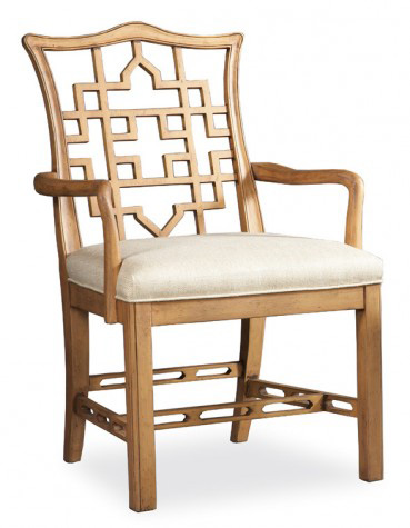 Image of Carved Back Arm Chair