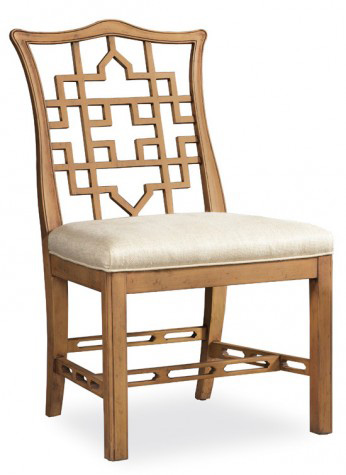 Hickory White - Carved Back Side Chair - 791-64