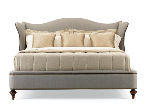 Image of Upholstered Wingback Bed-King