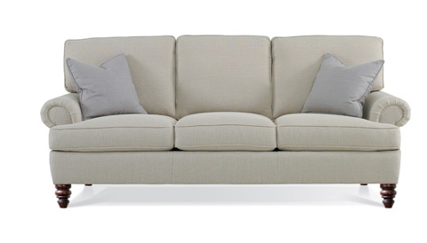 Hickory White - Wilton Court Sofa with Turned Leg - 021LW05T