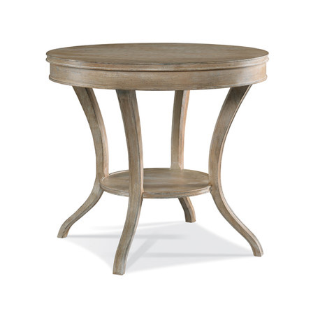 Hickory White - Round Lamp Table - 303-20