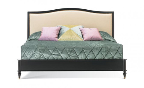 Image of Queen Upholstered Panel Bed