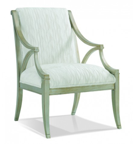 Hickory White - Exposed Wood Arm Chair with Tight Back - 4468-01