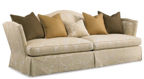 Camel Back Sofa With Skirt 4698 05 Hickory White Sofas