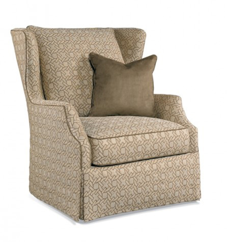 Hickory White - Wing Chair with Skirt - 4825-01