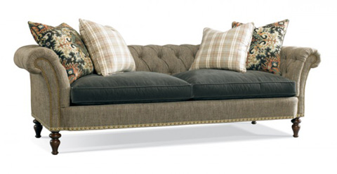 Hickory White - Tufted Sofa with Rolled Arms - 4892-05