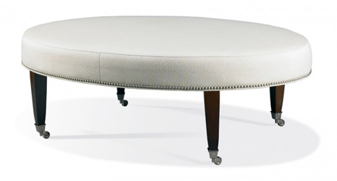 Hickory White - Round Ottoman with Casters - 4902-20